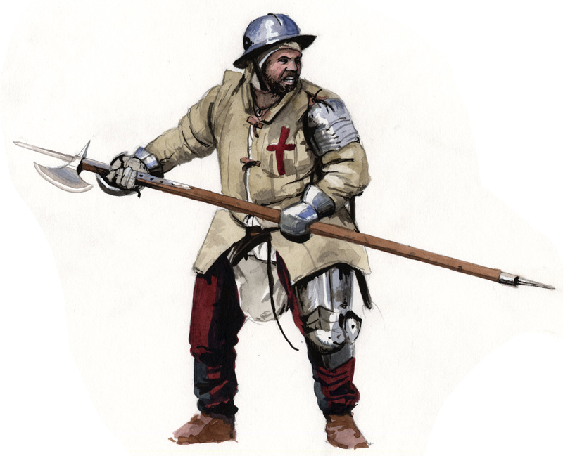 Medieval Soldier Drawing